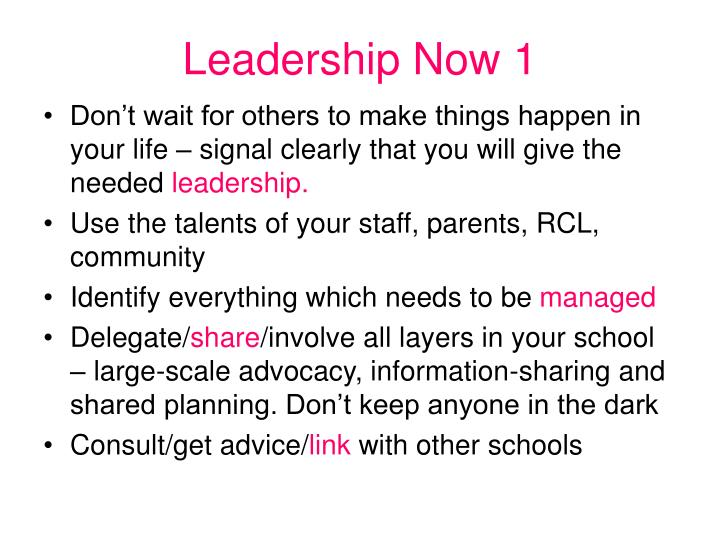 Leadership Now 1