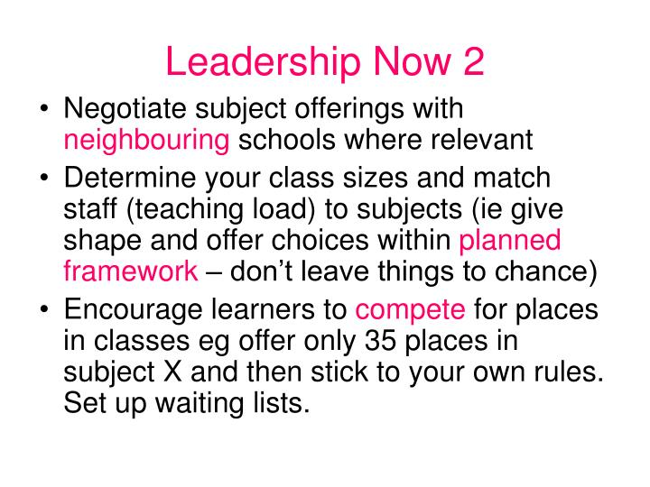 Leadership Now 2