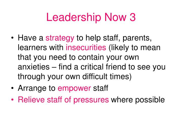 Leadership Now 3