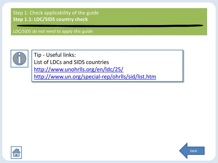 Step 1: Check applicability of the guide