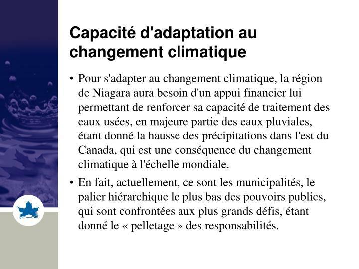 Capacité d'adaptation au changement climatique