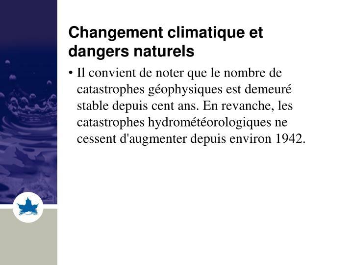 Changement climatique et dangers naturels