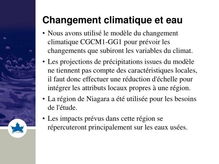 Changement climatique et eau
