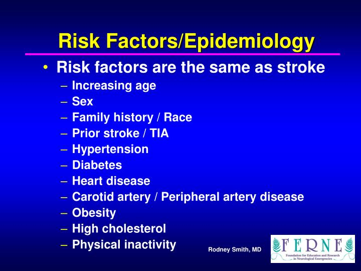 Risk Factors/Epidemiology