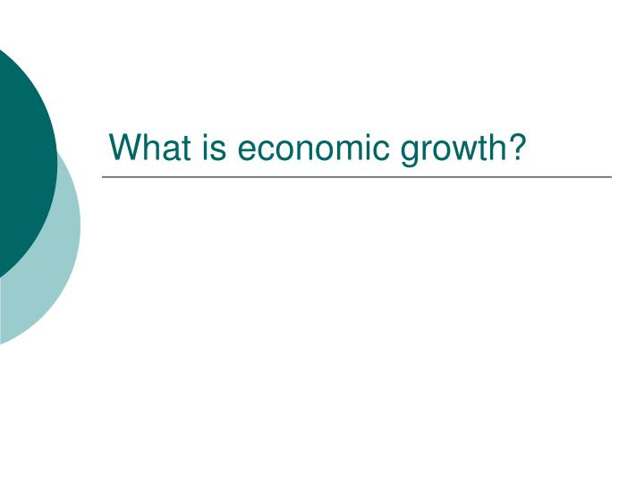 what is economic growth n.