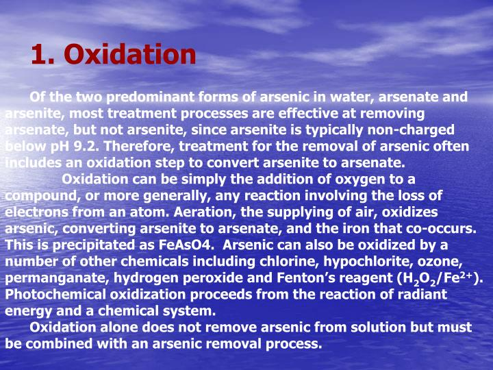 1. Oxidation