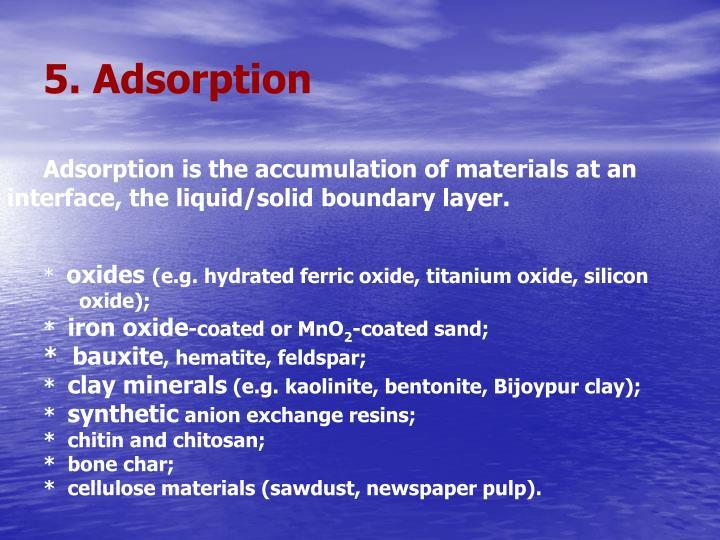5. Adsorption