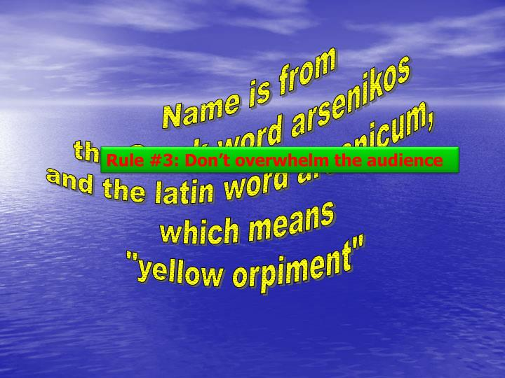 Name is from