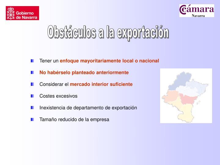 Obstáculos a la exportación