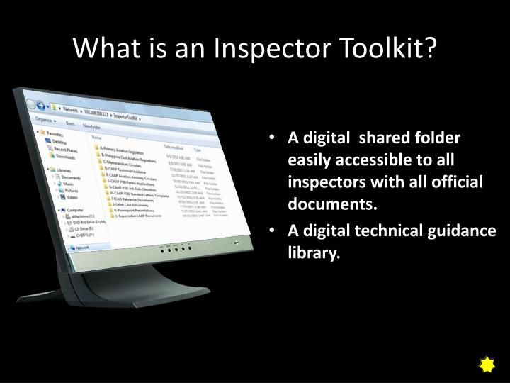 what is an inspector toolkit n.