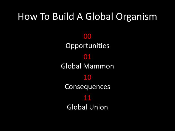 How to build a global organism