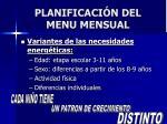 planificaci n del menu mensual
