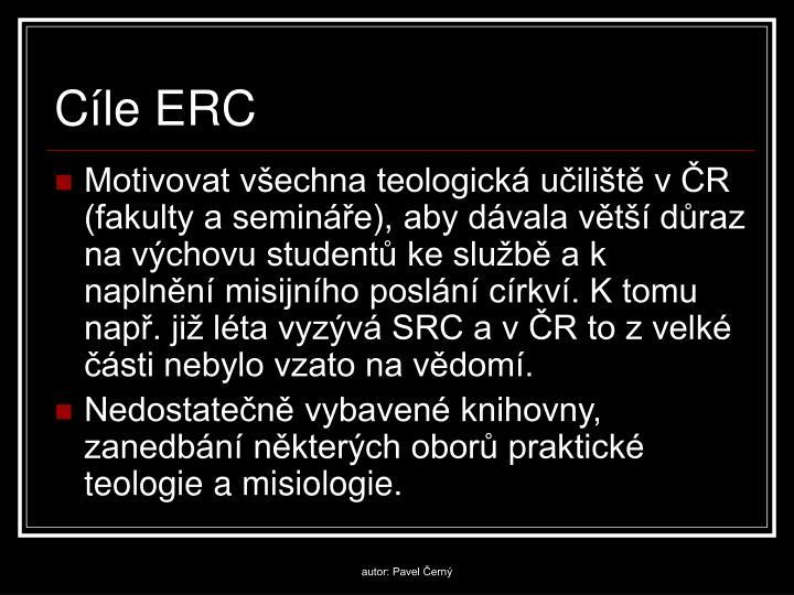 Cíle ERC