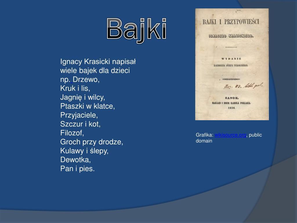 Ppt Ignacy Krasicki Powerpoint Presentation Free Download