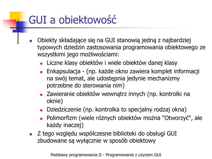 GUI a obiektowość