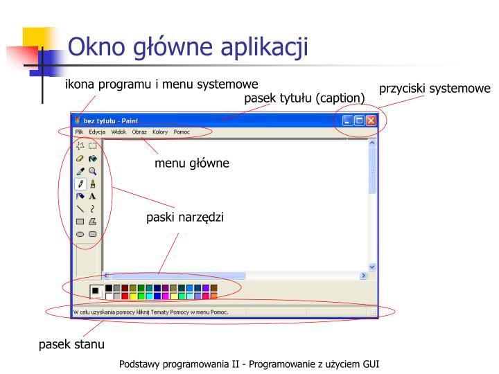 Okno główne aplikacji