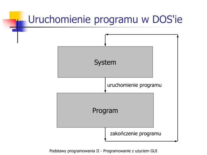 Uruchomienie programu w DOS'ie
