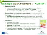 web page www mojaizbira si content