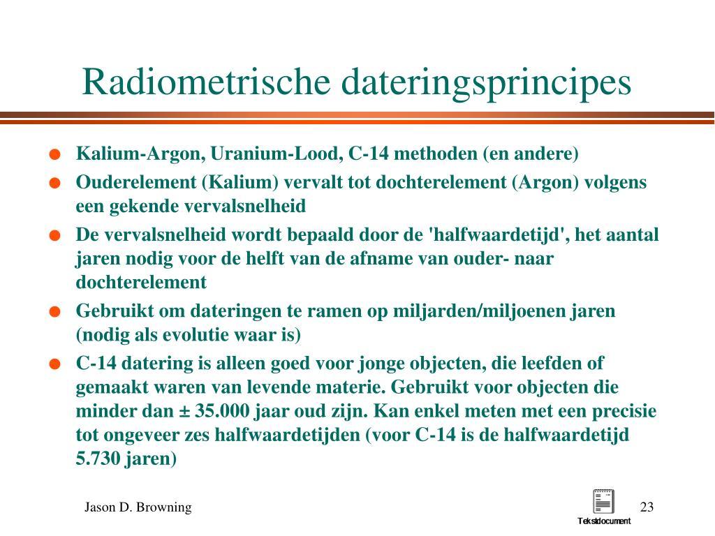 lijst 3 methoden van radiometrische dating grootste gratis online dating