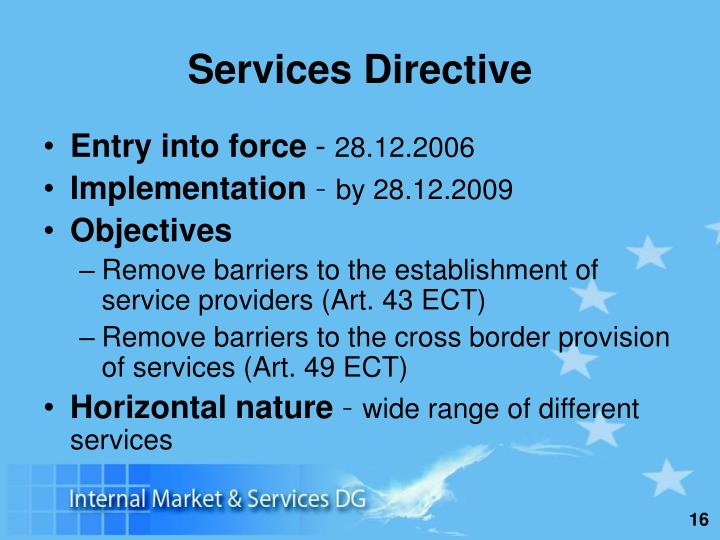 Services Directive