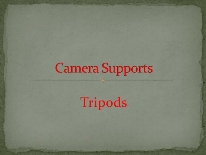 camera supports n.