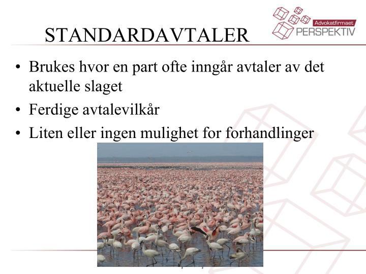 STANDARDAVTALER