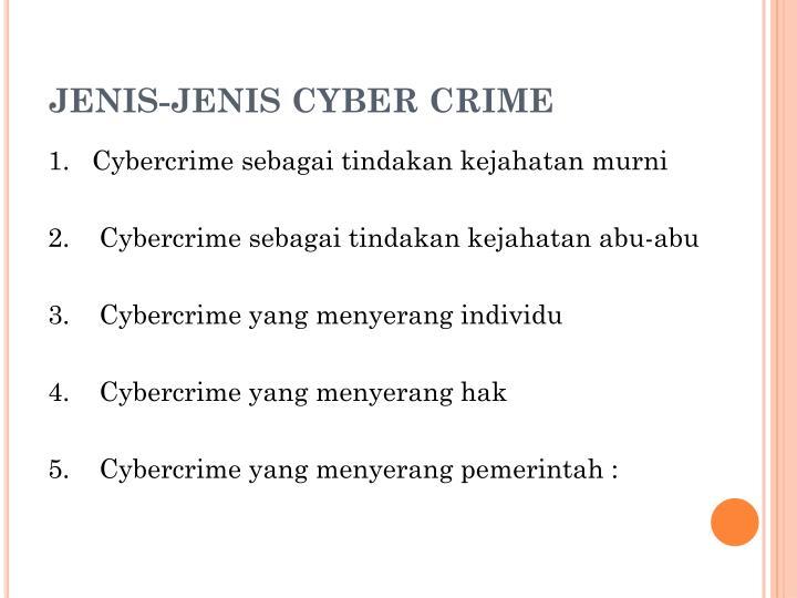 JENIS-JENIS CYBER CRIME