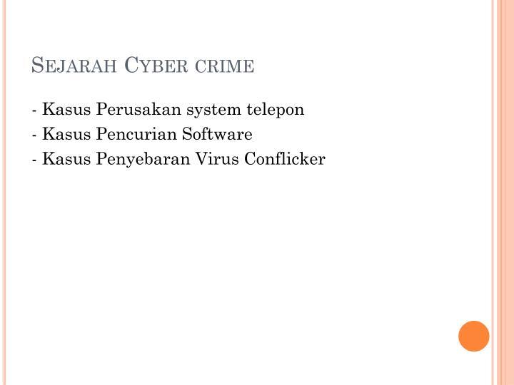 Sejarah cyber crime