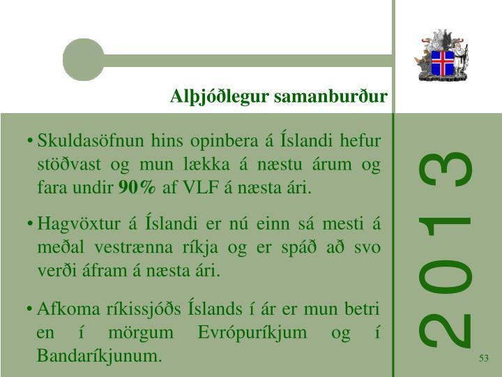 Alþjóðlegur samanburður