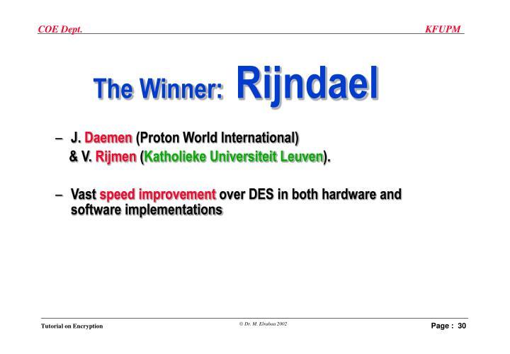 The Winner: