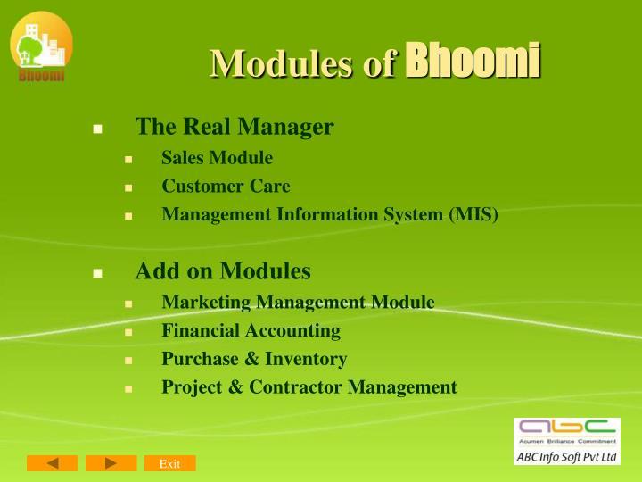 Modules of