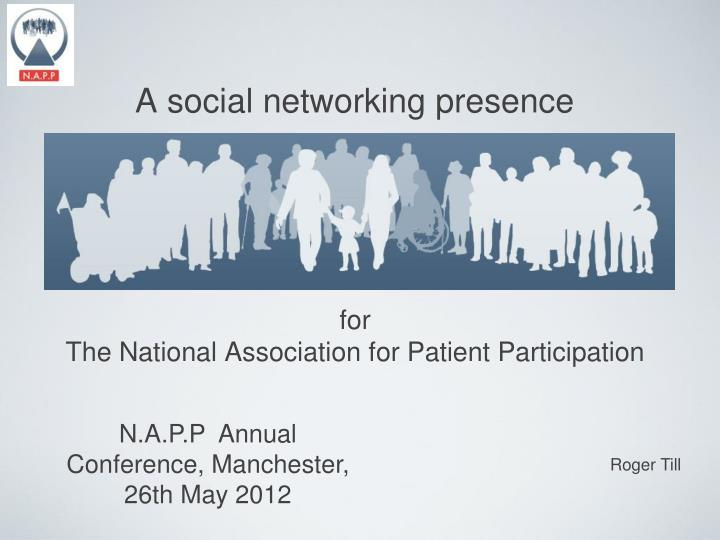 A social networking presence