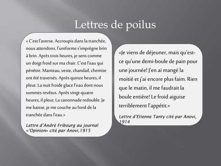 Lettres de poilus