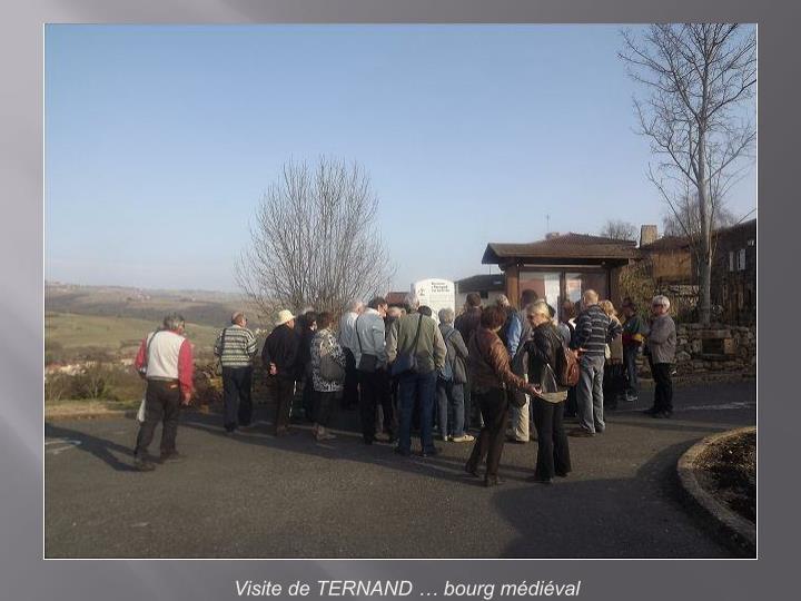 Visite de TERNAND … bourg médiéval