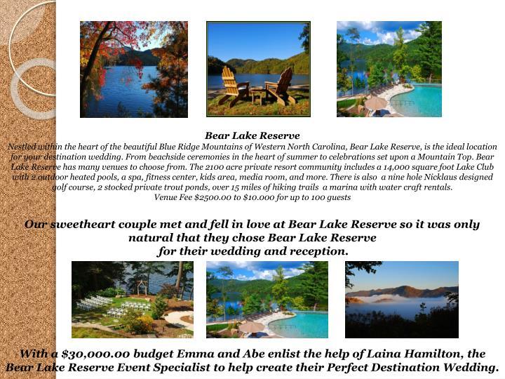 Bear Lake Reserve