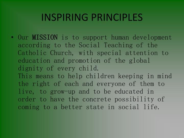 INSPIRING PRINCIPLES