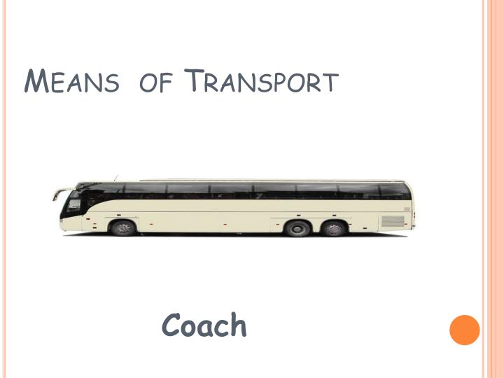 means of transport n.