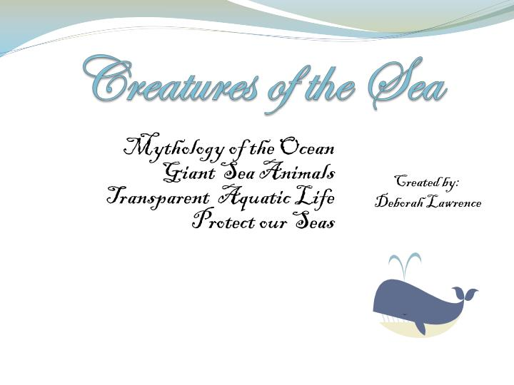 creatures of the sea n.