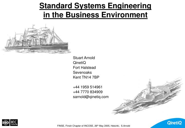 standard systems engineering in the business environment n.