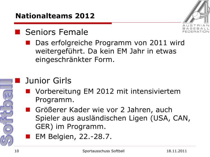 Nationalteams 2012
