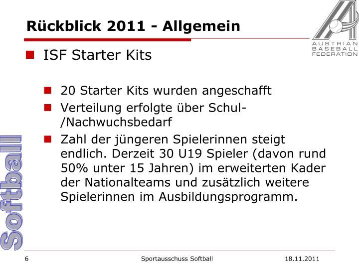 Rückblick 2011 - Allgemein