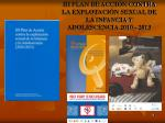 iii plan de acci n contra la explotaci n sexual de la infancia y adolescencia 2010 2013