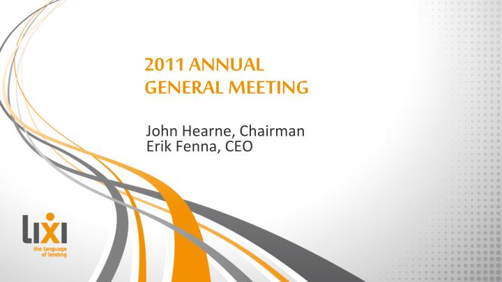 2011 annual general meeting n.
