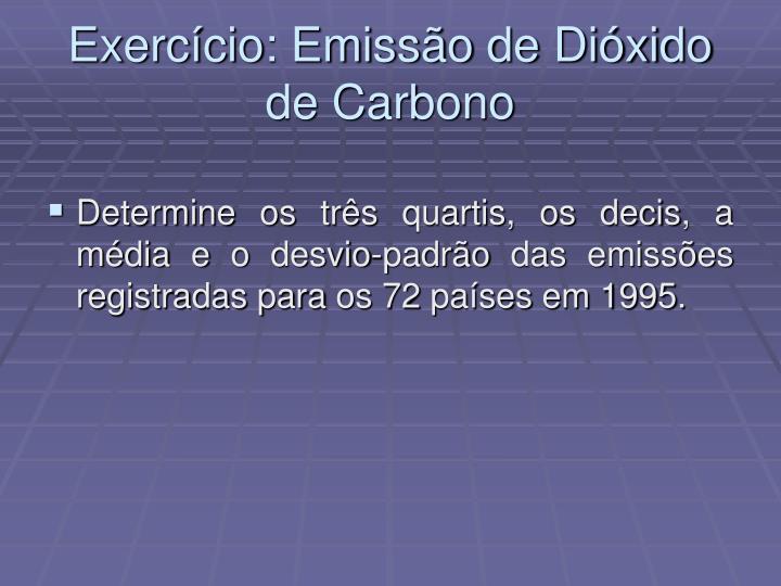 Exerc cio emiss o de di xido de carbono