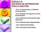 m dulo iii sistemas de informaci n para la gesti n