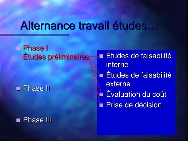 Phase I          Études préliminaires