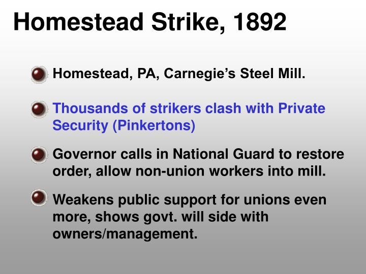 Homestead Strike, 1892