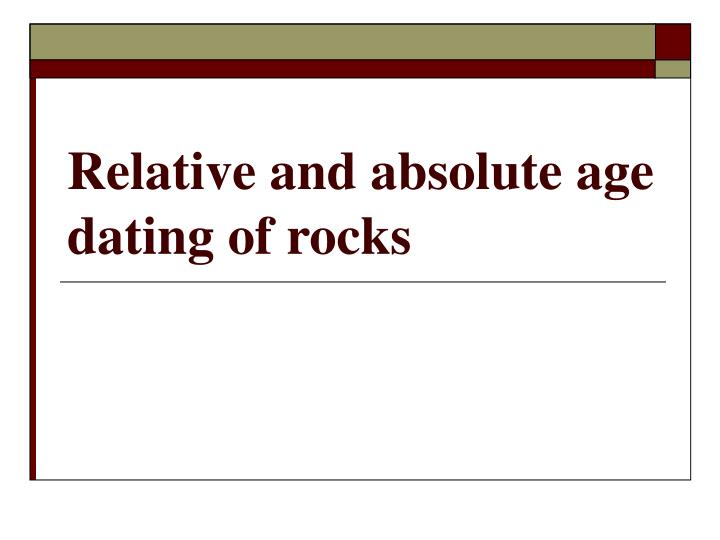 dating of rocks ppt