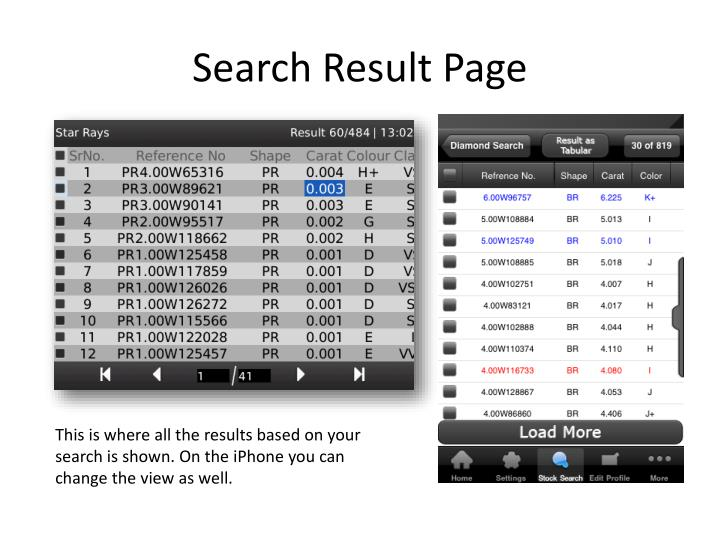 Search Result Page