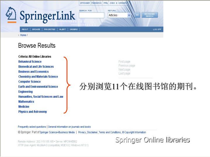 Springer Online libraries